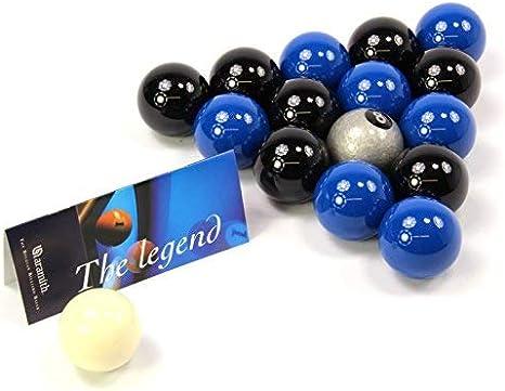 EXCLUSIVA! Aramith Premier SILVER 8 BALL edición negro y azul ...