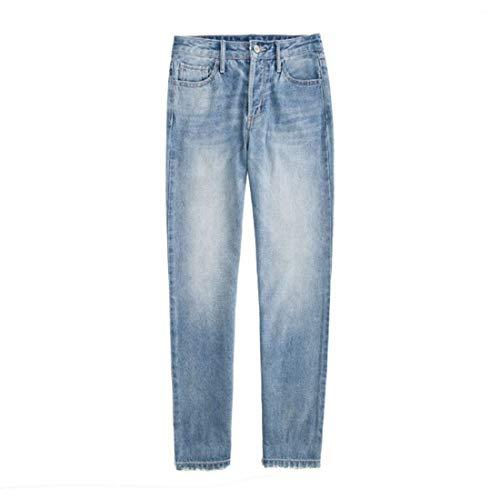 Hallen Cilíndrico Y De Blue Retro Sueltos Primavera Kervinzhang Verano Mujer Recto Jeans q07nOwf