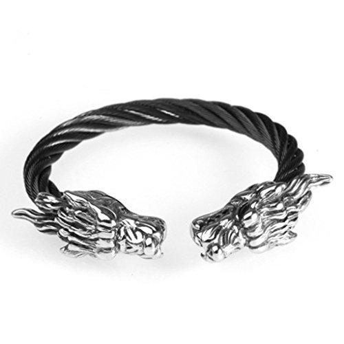Epinki Mens Stainless Steel Dragon Bracelet Black Bracelet