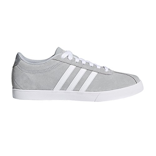 adidas Women's Shoes | Courtset Sneakers, Light Onix/White/Metallic Silver, (10 M US)