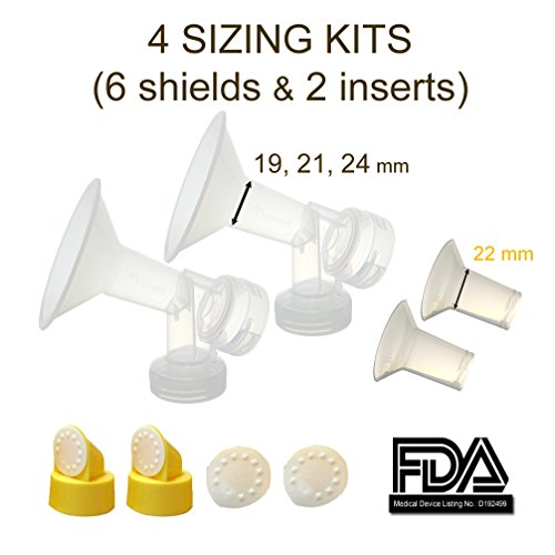 breastshield-sizing-kit-small-one-piece-breastshield-w-valve-membrane-for-medela-breast-pumps-pump-i