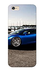 Trolleyscribe High Quality Blue Lamborghini Gallardo Case For Iphone 6 Plus / Perfect Case For Lovers