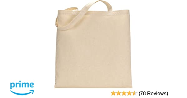 Amazon.com  TBF Set of 25 (twenty five) Natural Cotton Canvas Tote Bags!  Blank Art Craft Supply Book Print Bulk Lot School! Blank goods  Reusable  Grocery ... 9b05db204ea48
