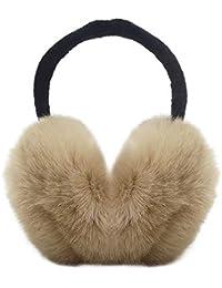 Zando Women Gilrs Winter Warm Ear Muffs Outdoor Foldable Ajustable Faux Furry Earwarmer