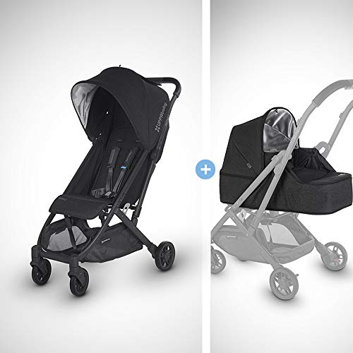 MINU Stroller/from Birth Kit - Jake (Black Melange/Carbon/Black Leather)