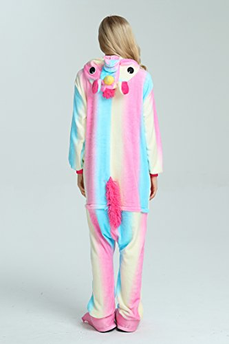 Taiyi Homewear Childrens Unicorn Plush One Piece Onesie Cosplay Animal Costume (12Yrs(height 59''-63''/150cm-160cm), Rainbow Flying Horse) by Taiyi (Image #8)