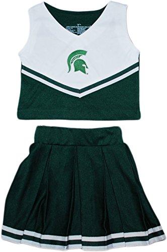 Piece Cheerleader 2 Dress (Michigan State University Spartans NCAA College 2-Piece Cheerleader Dress)
