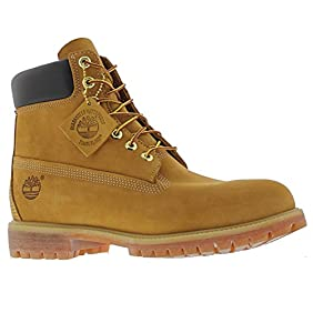 Timberland Mens Icon 6-inch Premium Boot Wheat Leather Boots 9.5 US