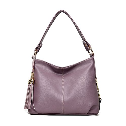 Purple Leather Handbag - 9