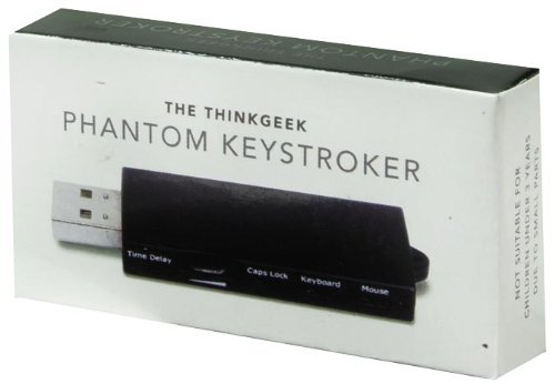 ThinkGeek Phantom Keystroker V2 – Time Delay Dial, Caps Lock, Keyboard, and Mouse Switches – High-Tech Office-Based Prank Device