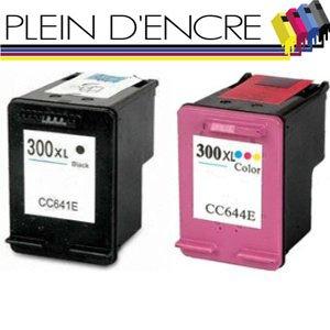 Pack 2 cartuchos de impresora para HP 300 XL/Gran Capacidad/Negro ...