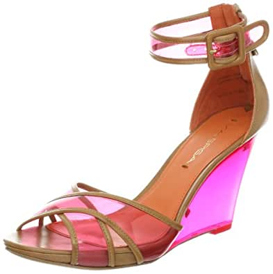 Via Spiga Women's VBiana Wedge Hot Pink/Camel Size 10.0
