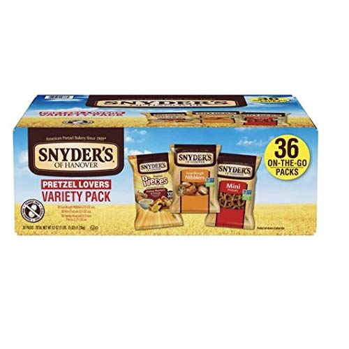 Snyders Pretzels Sourdough (Snyder's of Hanover Pretzel Lovers (1Variety Pack, 36 Pack))