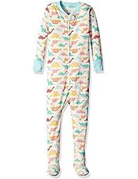 Girls' Organic One-Piece Footed Pajamas