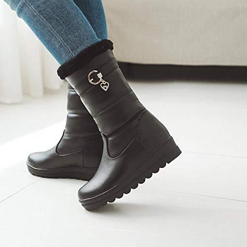 AGECC Stivali Invernali, Stivali, Stivali, Stivali, Stivali Stivali Stivali di Cotone, Stivali di Cotone, Trentanove, Neri eeb88e