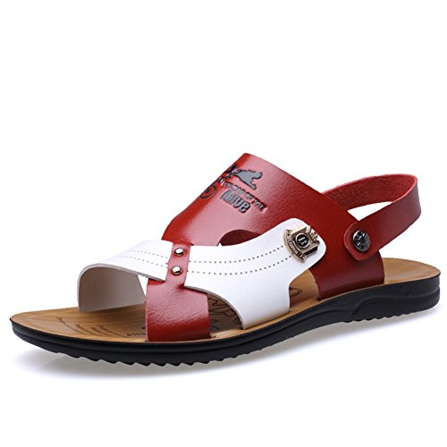 Soft Summer Office Beach Outdoor Career Men's amp; Outdoor 44 Sandals Size Color B Slippers Breathable HUAN Leather Casual SEq045