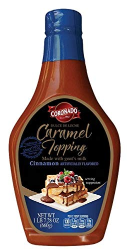 CORONADO Dulce de Leche Caramel Topping – Sweet Cajeta Sauce/Spread with Real Goat Milk