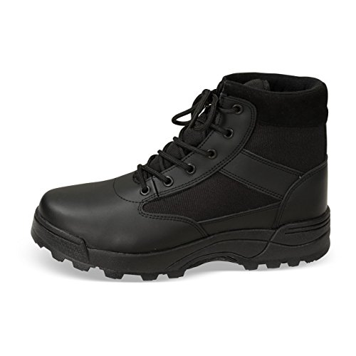 Combat Boots, Tactical Security Boots, Army / Police Leather Boots, Colour: black, Recon Boots