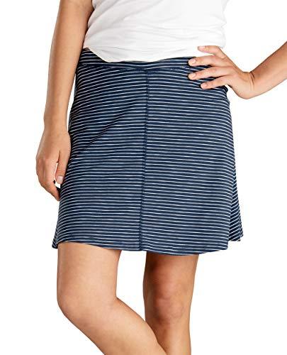 Toad&Co Women's Seleena Skort, Deep Navy Mini Stripe, S