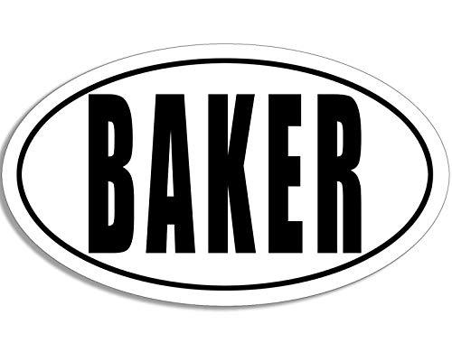 American Vinyl Oval Baker Sticker (Bake Cookie Cake Pastry)