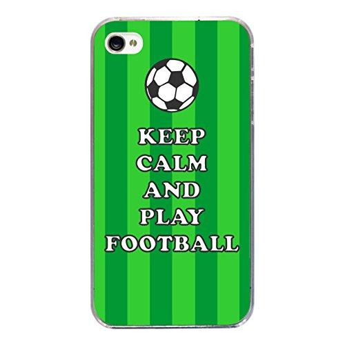 "Disagu Design Case Coque pour Apple iPhone 4s Housse etui coque pochette ""KEEP CALM AND PLAY FOOTBALL"""