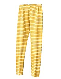X-Future Women's Stripe Soft High Waisted Stretch Thin Thermal Leggings