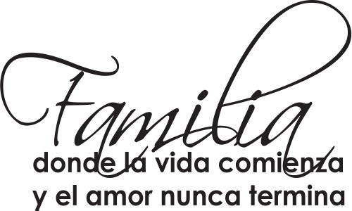 Spanish Wall Saying Quotes Familia Donde La Vida Comienza Wall