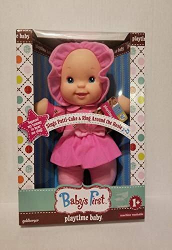 (Plush Baby First Playtime Baby Doll Soft Body for Kids  Sings Patti-Cake and Ring Around The Rosie)