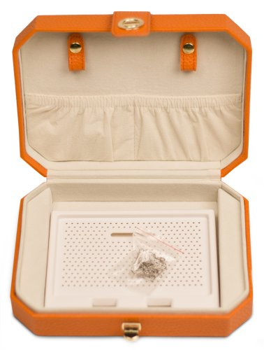 (Lori Leigh Designs 2030 Earring Chalet Traveler Jewelry Box, 8 by 2-1/2 by 5-3/4-Inch, Sunset)