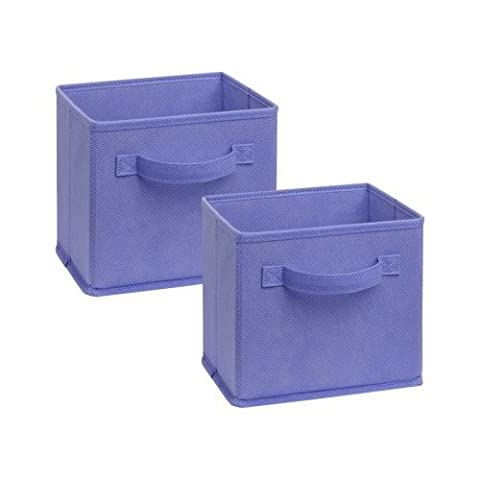 ClosetMaid Cubeicals Pack of 2 light purple fabric Drawers - 1576