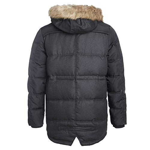 Long Pera Avec Noir Grise Mi Teddy Manteau Smith Capuche 1qUHCcTI