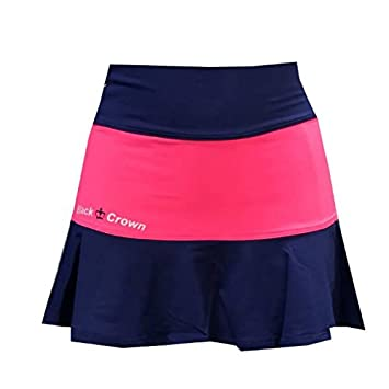 Falda Padel Black Crown Mujer Tesino Marino/Fresa-L: Amazon.es ...