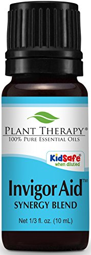 Plant Therapy Invigor-Aid Synergy Essential Oil Blend. 100% Pure, Undiluted, Therapeutic Grade. Blend of: Sandalwood, Black Pepper and Lemon. 10 ml (1/3 ()