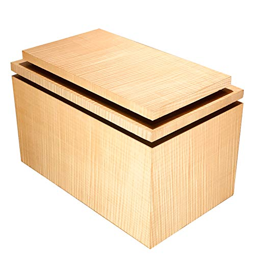 (Timeless Woods Large Adult Cremation Urn Exotic Tiger Maple Wood)