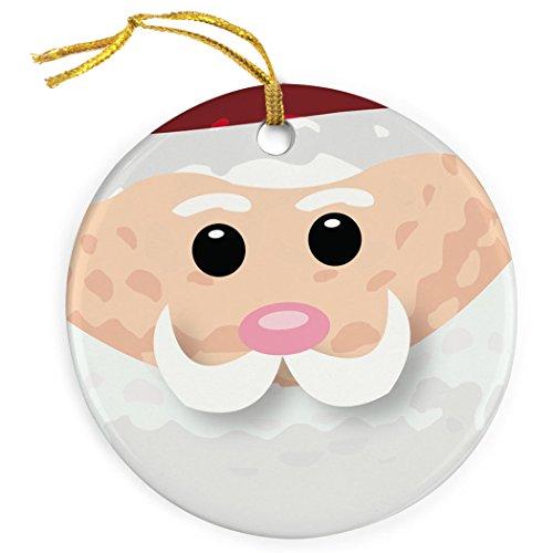 ChalkTalkSPORTS Golf Ball Santa Christmas Ornament | Golf Porcelain Ornaments