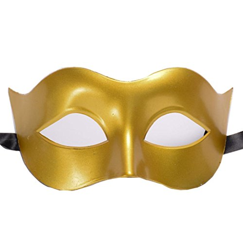 YJYdada Halloween Masquerade Mask Prom Party Mask accessories (Gold)