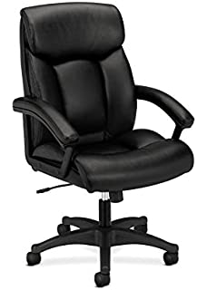 basyx by hon leather executive chair highback computer chair for office desk