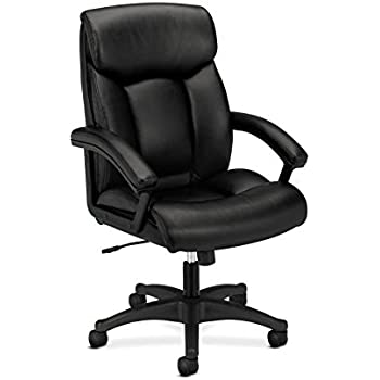 Basyx By HON Leather Executive Chair   High Back Computer Chair For Office  Desk,
