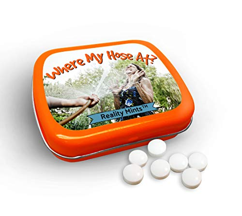 Where My Hose at Mints Cute Gags for Friends Women Weird Stocking Stuffers for Adults Chocolate Breath Mints Secret Santa White Elephant Office Best Friend Girls Night Gags for Teens ()