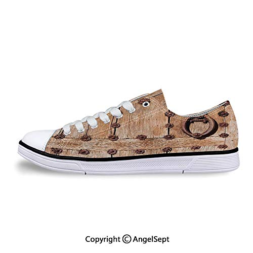 Women Sneakers Rusty Medieval Style Handlers Archway Lace-up Low Top Canvas Sho]()