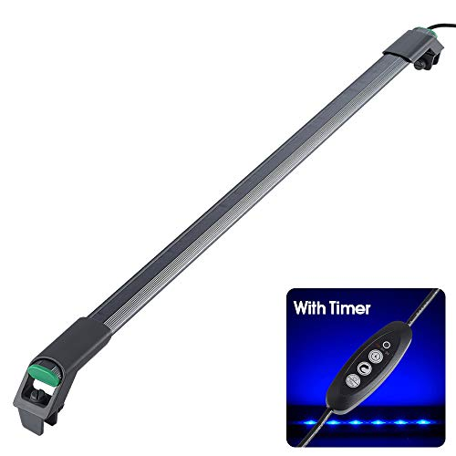 LED Aquarium Light with Timer, Dimmable, Fish Tank Light with Clips, Super Bright Light for 10 to 15 Gallon Fish Tanks…