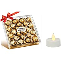 Vending India Diwali Chocolate Gift Hamper with LED Diya (Ferrero Rocher 24 Pieces)