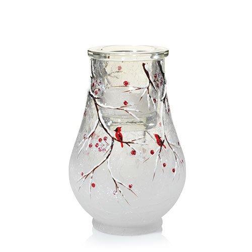 Yankee Candle Winter Cardinal Tulip Tea Light Candle Holder