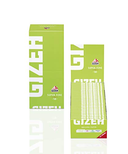 50 Booklets GIZEH Super Fine Rolling Paper Green Box 2500 Papers -