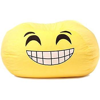 GoMoji Emoji Grinning Bean Bag Chair
