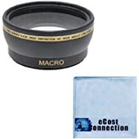 Pro Series 52mm 0.43x Wide Angle Lens + Microfiber Cloth for Nikon 40mm 2.8G AF-S DX Micro-Nikkor Lens, 55-200mm 4-5.6G ED AF-S DX Autofocus Lens, AF-S DX Micro NIKKOR 85mm 3.5G ED VR Lens & Many Other Lenses