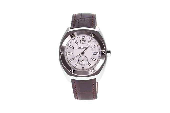 Saint Honoré Reloj Analógico para Hombre de Cuarzo con Correa en Cuero 8620101APIN: Amazon.es: Relojes