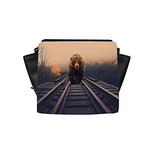 Satchel Bag for Women, Bear Printed Women Shoulder Tote Bag