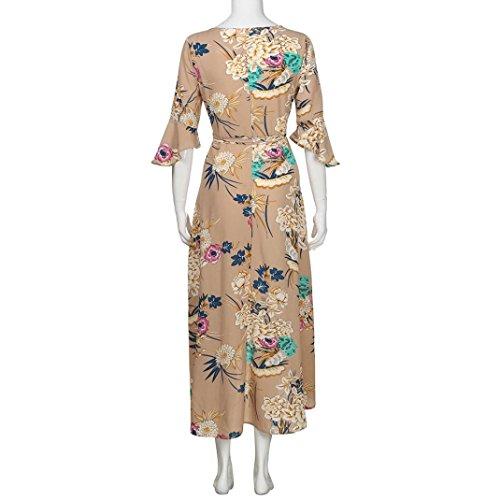 b10c32b96e Hemlock Wrap Dress Hawaii Sundress Long Maxi Dress Women V Neck Floral Boho  Dress (M