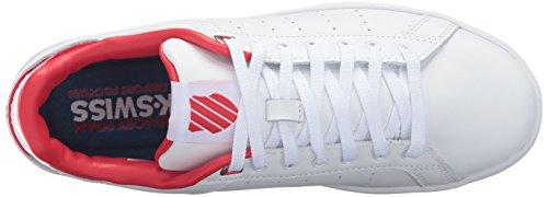 Womens K-swiss Corte Pulita Cmf Sneaker Bianco / Rosso Ologramma